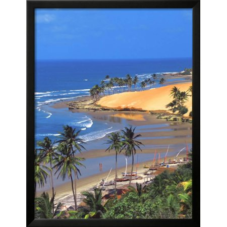 Beach In Fortaleza Ceara Brazil South America Framed Print Wall Art By Papadopoulos