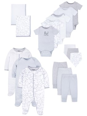 Little Star Organic Baby Boy or Girl Gender Neutral Newborn Clothes Shower Gift Set, 16pc