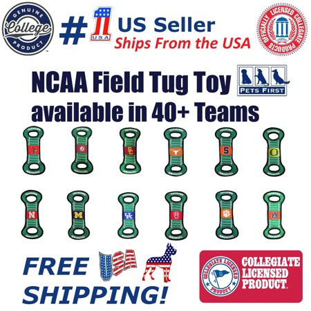 Pets First Collegiate Texas A & M Aggies Football Field Toy for DOGS & CATS. Heavy-Duty, Durable toys with - Large Air Squeaker Football