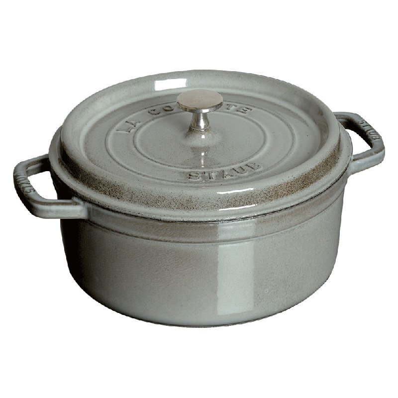 Staub Cast Iron 5.5-qt Round Cocotte - Graphite Grey