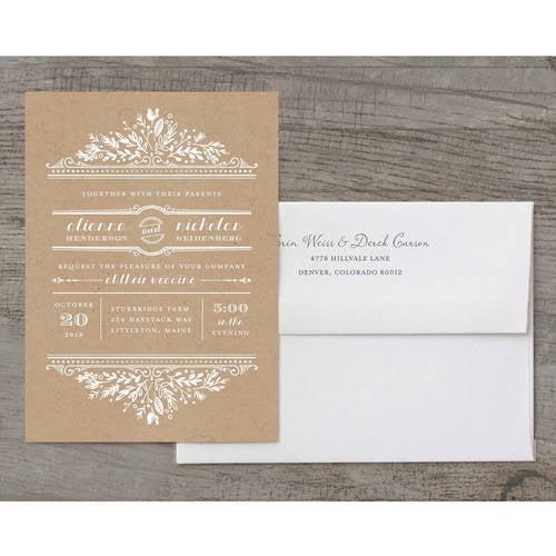Woodland Wedding Deluxe Wedding Invitation