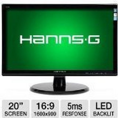 20 Hannspree HL HL203DPB LED-Lit Monitor