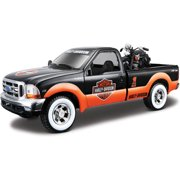 1999 1936 Ford F-350 Super Duty Pickup Harley-Davidson   EL Knucklehead Motorcycle, Orange Maisto HD 32172 1 27 Scale... by Maisto