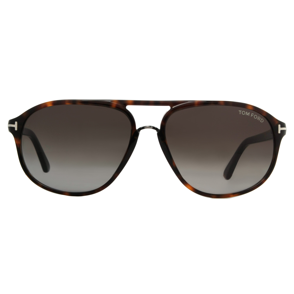 854883cc34a TOM FORD - Jacob TF 447 52B Brown Tortoise Gray Gradient Mens Aviator  Sunglasses - Walmart.com