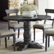 """Progressive Muses 48"""" Round Dining Table in Weathered Pepper"""