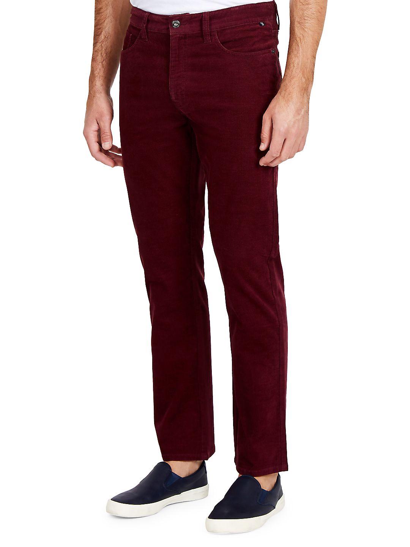 Straight-Fit Corduroy Five-Pocket Pants