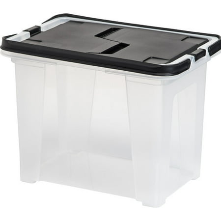 IRIS USA, Inc.  Letter Size Portable Wing Lid File Box,