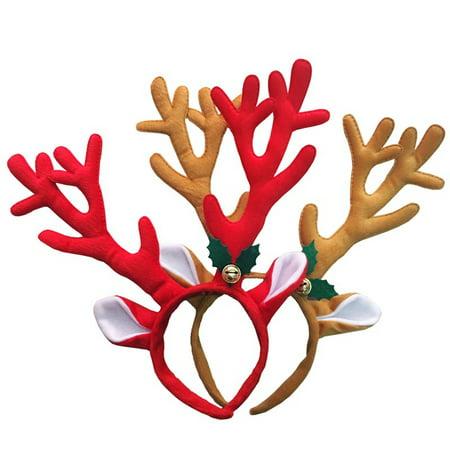 Directer Reindeer Antlers Headband Headwear Hair Hoop Christmas Cosplay Party Accessory (Christmas Car Accessories Reindeer Antlers)