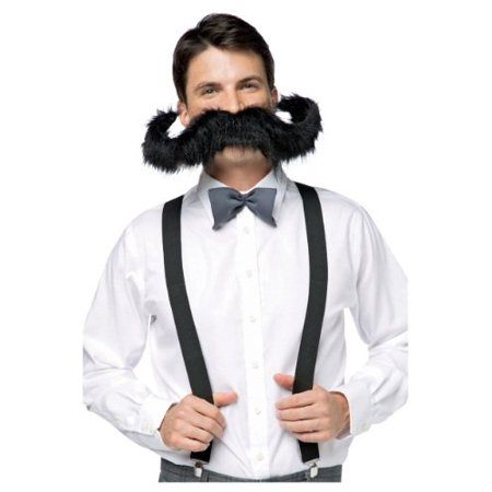 Black 20 inch Super Stache Adult Halloween - Halloween 20 Years Later Online