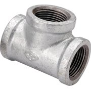 Worldwide Sourcing Pipe Tee, 1 In, Threaded, Malleable Iron
