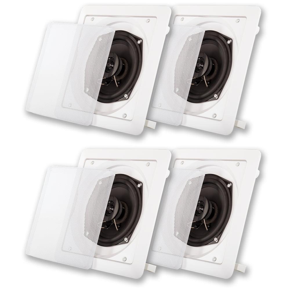 Acoustic Audio S191 In Ceiling / In Wall Speaker 2 Pair Pack 2 Way Home 800W S191-2PR