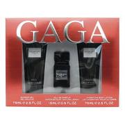 Lady Gaga EAU DE GAGA Set: Shower Gel 2.5 Fl Oz., Eau De Parfum .5 Fl Oz., Hydrating Body Lotion 2.5 Fl Oz.