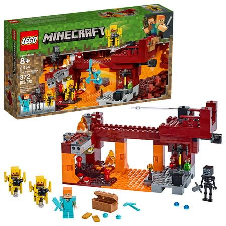 LEGO Minecraft The Blaze Bridge 21154 Toy Battle Building Set (370 Pieces)