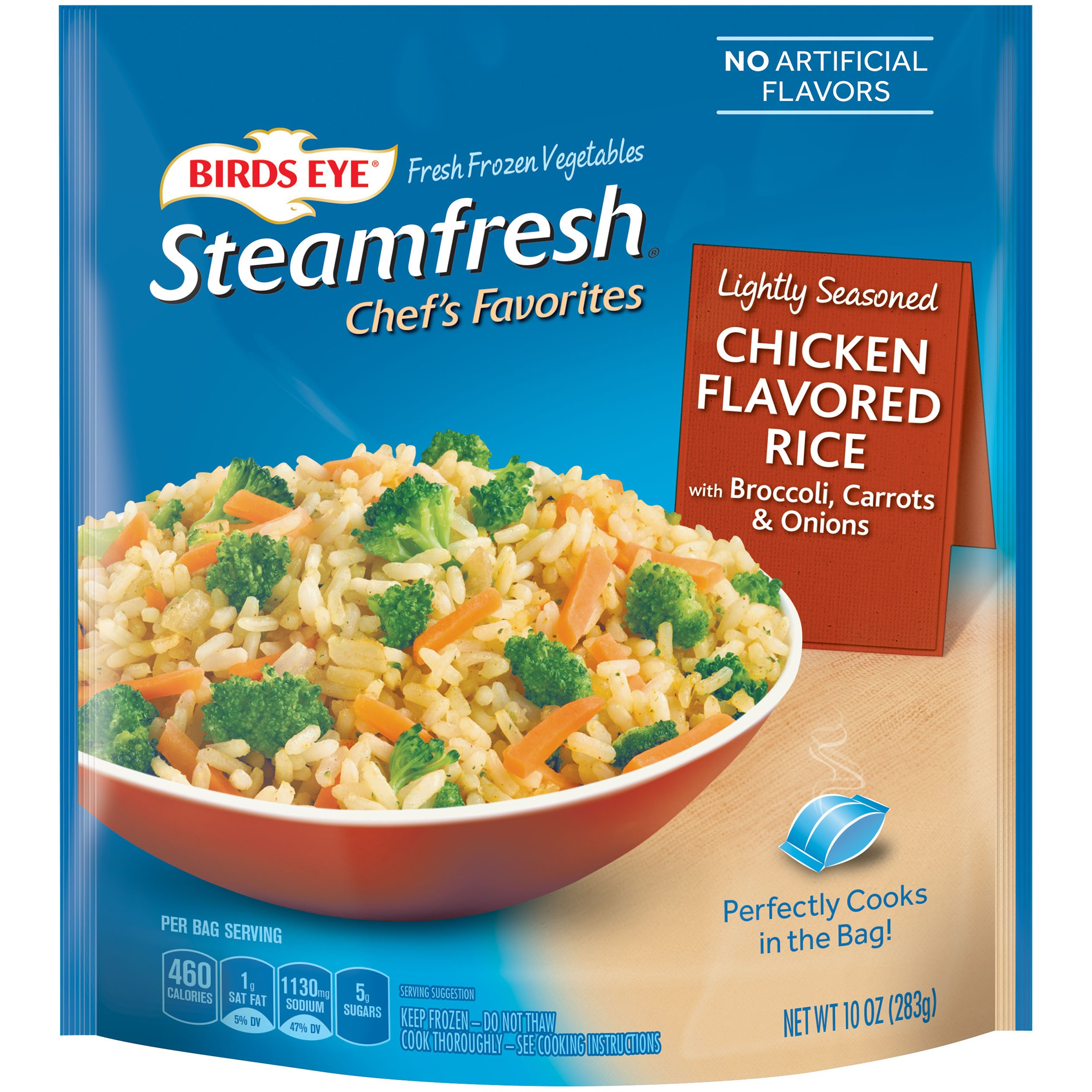 Birds Eye® Steamfresh® Chef's Favorites Lightly Seasoned Chicken Flavored Rice 10 oz. Bag