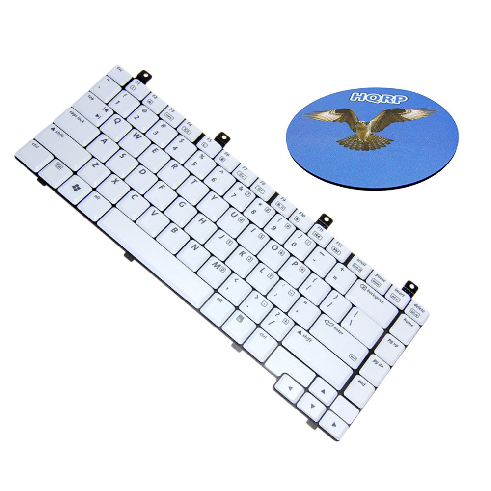 HQRP Laptop Keyboard for HP Compaq Presario M2000 / V2000 / V2100 / V2200 / V2300 / ZV5000 / ZV6000 / ZX5000 Series ;  Replacement plus HQRP Coaster