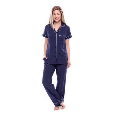 d138c63c21 texeresilk - texere women s jersey short sleeve pjs - sleepwear gift (classic  slumber) tx-wb000-012 - Walmart.com