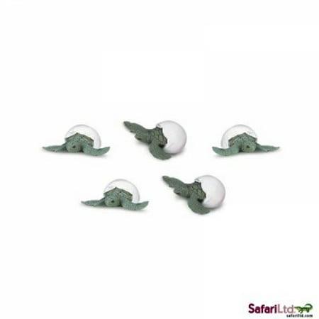 Safari Ltd. - Good Luck Minis - Sea Turtle Hatchlings - Set of 10 - Is Yoshi A Turtle