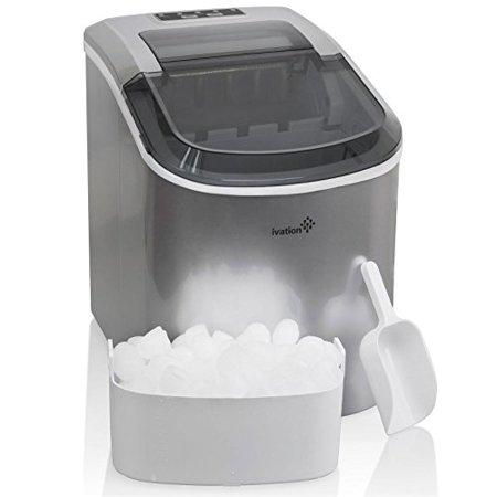 Portable Ice Maker - Counterop Design - 2 Selectable Cube