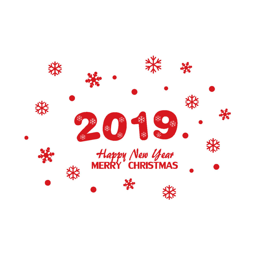 New Year Merry Christmas Snowflake Wall Sticker Home Shop Windows Decals Decor