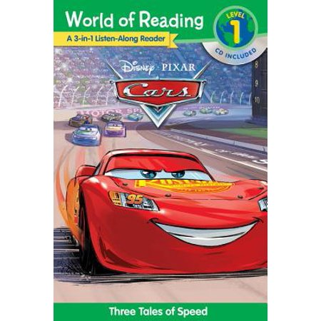 World of Reading Cars 3-in-1 Listen-Along Reader (World of Reading Level 1) : 3 Tales of Adventure with