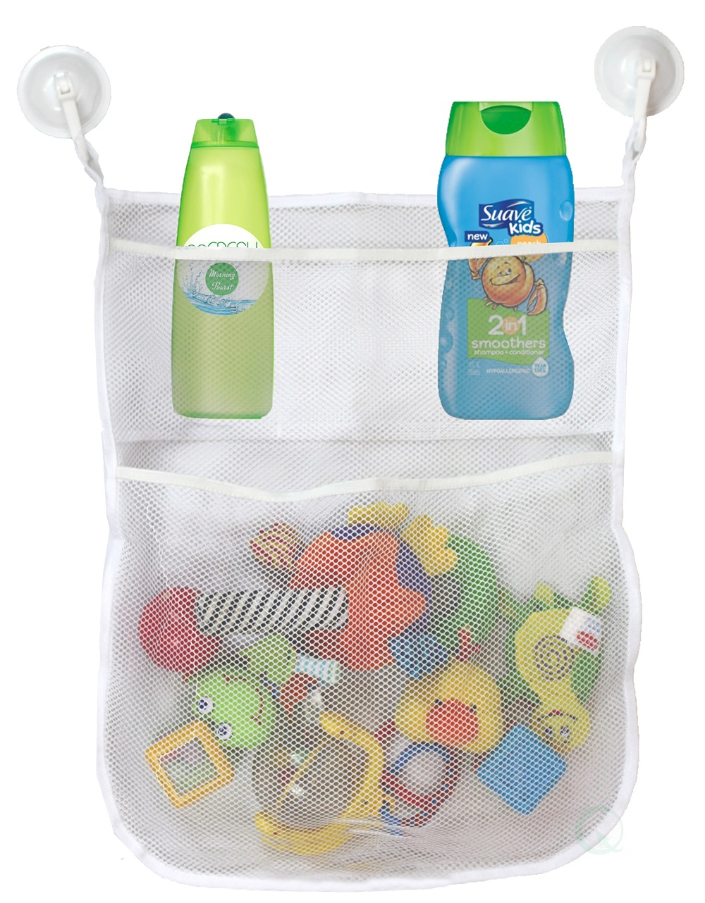 4-Section Bath Toy Organizer With 2 Hook Suction Cups by Quickway Imports Inc
