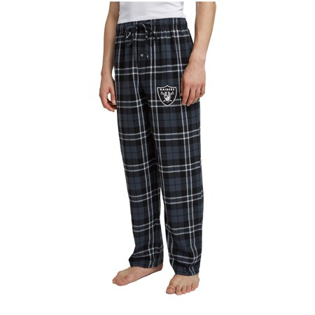 Men's Black/Charcoal Oakland Raiders Ballot Flannel Lounge Pants Nfl Sleep Pant