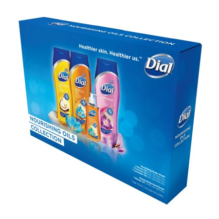 Dial Body Wash and Liquid Hand Soap, Nourishing Oils Collection, 4 Piece Gift Pack