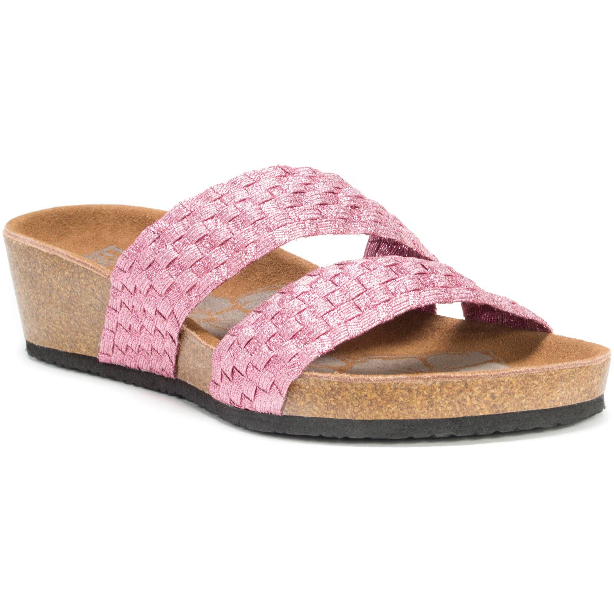MUK LUKS Women's Heather Wedge Sandals