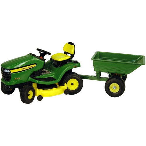John Deere 1/16 Scale X324 Lawn Tractor with Cart