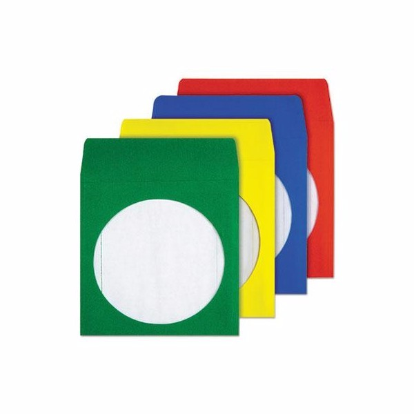 Quality Park Colored CD/DVD Paper Sleeves