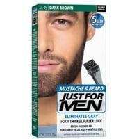 3 Pack - JUST FOR MEN Color Gel Mustache & Beard M-45, Dark Brown 1 Each