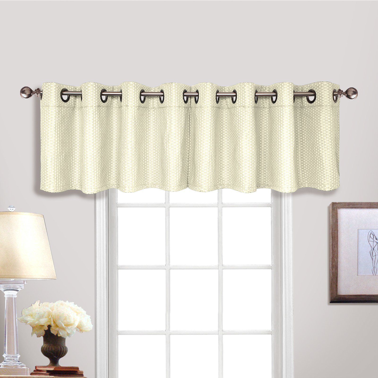 United Curtain Hamden Grommet Top Window Valance