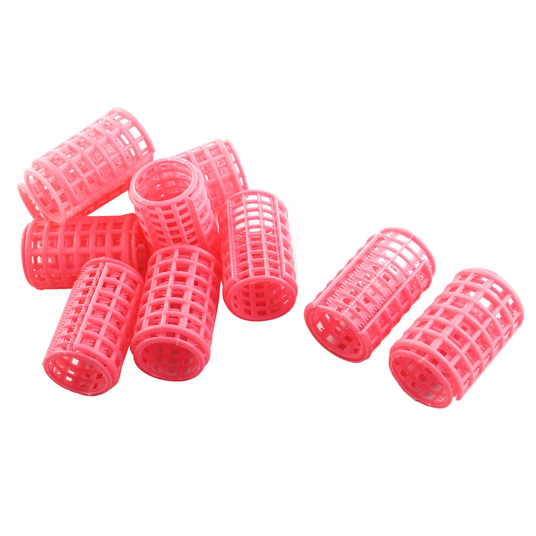 Unique Bargains Plastic Hair Rollers Curlers for Short Long Hair DIY 10 Pcs