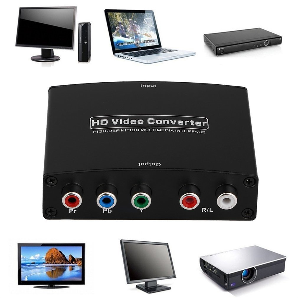Newest 1080P HD Clear HDMI To RGB Component YPbPr video and R/L audio Adapter Converter Updated