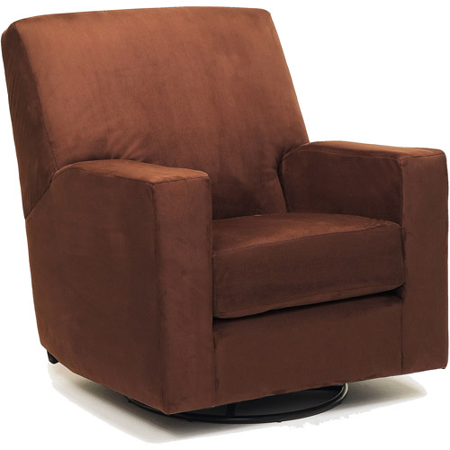 Newco - Devon Microsuede Glider, Chocolate Brown