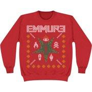 Emmure Men's  2014 Holiday Design Sweatshirt Red