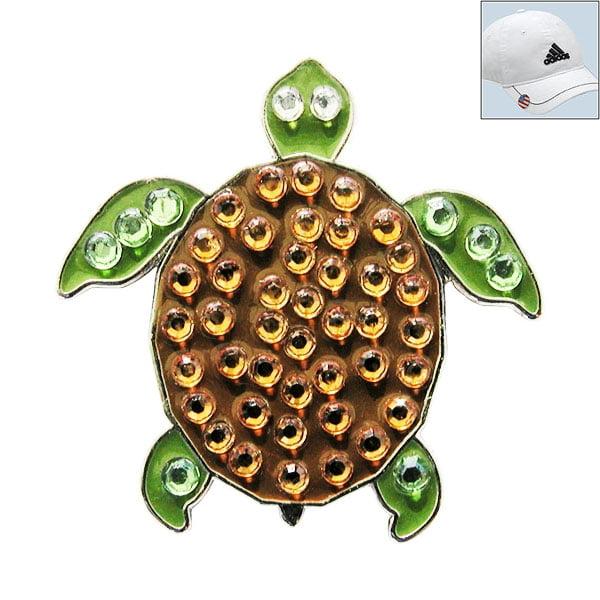Navika Swarovski Crystal Golf Ball Marker & Hat Clip - Turtle