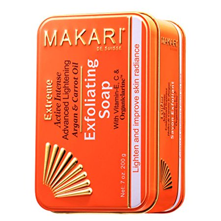 Makari Extreme Carrot & Argan Oil Bar Soap 7oz. - Anti-Aging Soap Exfoliates & Lightens Skin with Organiclarine - Whitening Treatment for Dark Spots, Acne Scars, Sun Patches &