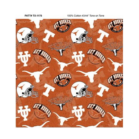 Texas Longhorns Fabric (University of Texas Tone on Tone Cotton Fabric-Sold by the Yard)