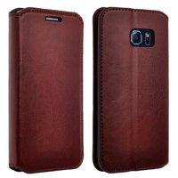 Product Image Samsung Galaxy S6 Case, Slim Magnetic Flip Fold[Kickstand] Pu Leather Wallet Case