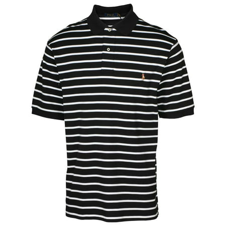 Polo Ralph Lauren Mens Big   Tall Stripe Pony Shirt Black