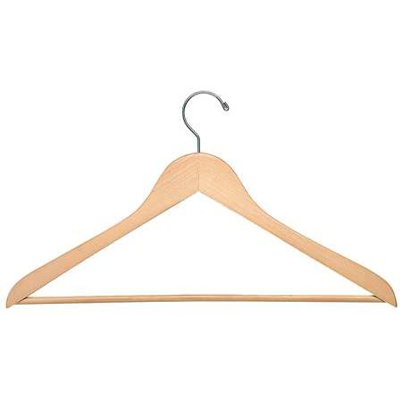 Wood Suit Hanger, Maple, PK24 Most of our clothing hangers are sold in packs for added convenience, so go ahead and stock up on your favorite ones. Take a look at the features for Honey-Can-Do Wood Suit Hangers. Material:  Wood, Finish:  Maple.
