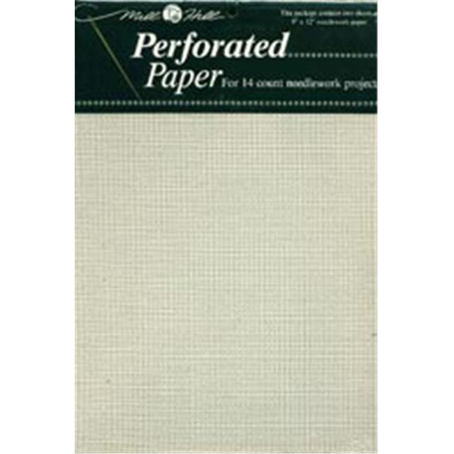 Mill Hill 207578 Perforated Paper 14 Count 9 inch x 12 inch 2-Pkg-White