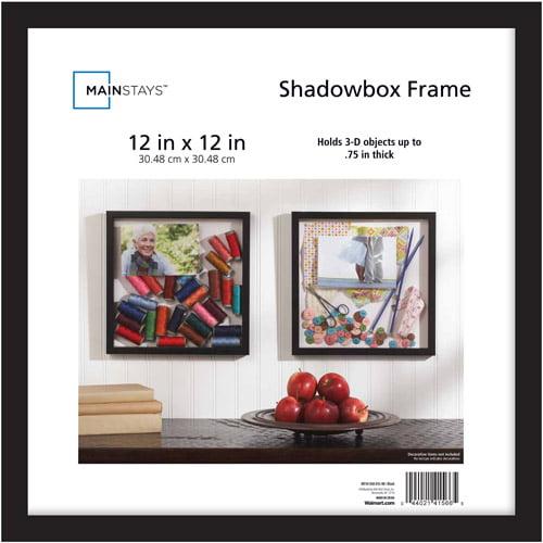 Mainstays 12x12 Shadowbox Frame Black Walmartcom