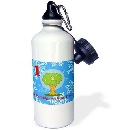 3dRose 12 Days Of Christmas A Partridge in a Pair Tree , Sports Water Bottle, 21oz ()