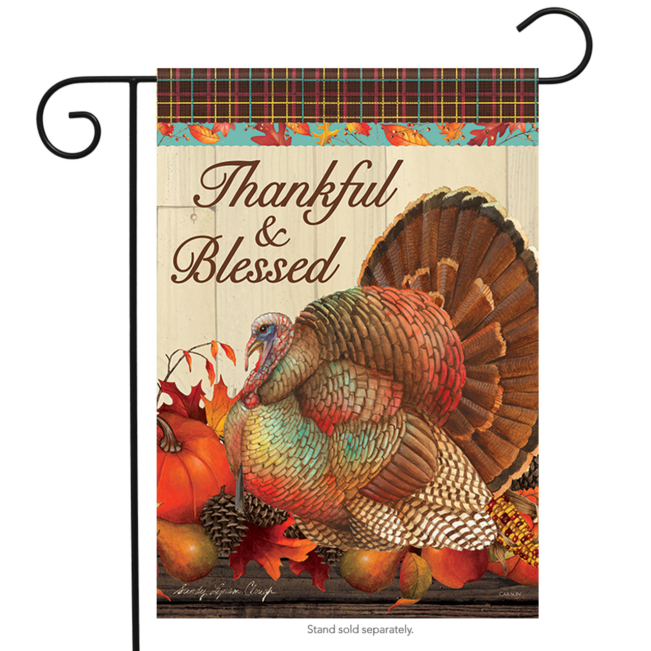 "Thanksgiving Traditions Turkey Garden Flag Fall Harvest Pumpkin Fall 12.5"" x 18"""