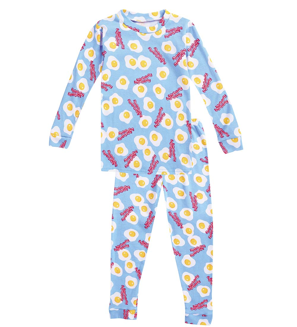 CWDkids Cotton Long Sleeve & Long Pants Pajamas, in Eggs, in Size 7