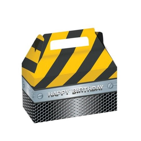 Club Pack of 24 Construction Birthday Zone Foil Treat Boxes