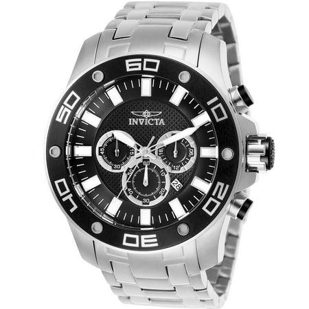 Men's 26074 Pro Diver Quartz Chronograph Black Dial -