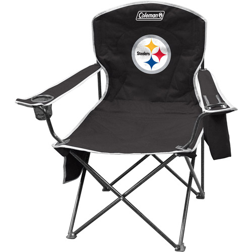 Gentil Coleman Quad Chair With 4  To 6 Can Cooler, Pittsburgh Steelers